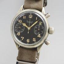 Hanhart Chronograph 41mm Handaufzug 1944 gebraucht Schwarz