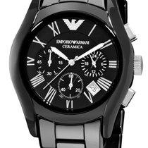 Armani Chronograph 42mm Quartz new Black