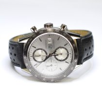 TAG Heuer Carrera Calibre 16 pre-owned 41mm Silver Chronograph Date Leather