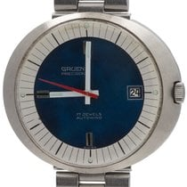 Gruen Steel 38mm Automatic Precision pre-owned