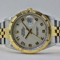 Rolex Datejust Turn-O-Graph Or/Acier 36mm Argent Sans chiffres