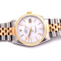 Rolex Mens 16013 Datejust White Stick Marker Dial