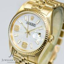 Rolex Datejust 16238 Gelbgold 36mm AUTOMATIK Box & Papiere