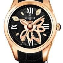 Perrelet New Diamond Flower Rose gold 36.5mm Gold (solid) Roman numerals