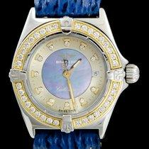 Breitling Callistino Or/Acier 26mm Bleu Sans chiffres