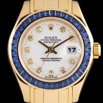 Rolex Datejust Sapphire Bezel Gold