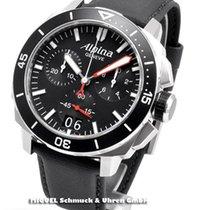 Alpina Chronograph 44mm Quarz neu Seastrong Schwarz