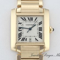 Cartier Tank Francaise Gelbgold 750 Grosses Modell Automatik