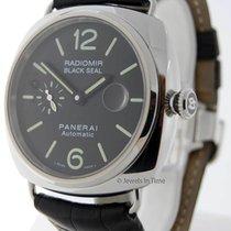 Panerai Radiomir Black Seal 45mm Steel Mens Watch Box/Papers...