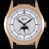Patek Philippe Annual Calendar Rose gold 38.5mm Silver No numerals