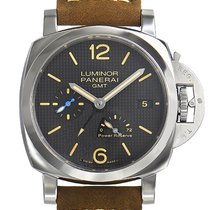 Panerai Luminor 1950 3 Days GMT Power Reserve Automatic Steel 42mm Black No numerals