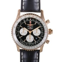 Breitling Navitimer Rattrapante Rose gold 45mm Black
