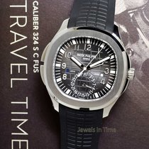 Patek Philippe NEW Aquanaut Dual Time Steel & Rubber Watch...