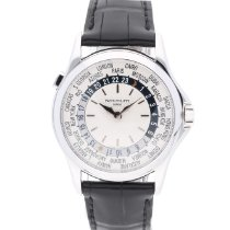 Patek Philippe World Time Witgoud 37mm Zilver