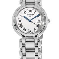 Longines PrimaLuna Steel 30mm Silver Roman numerals United States of America, New York, Brooklyn