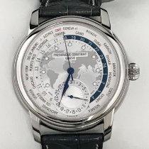 Frederique Constant Manufacture Worldtimer Steel 42mm Silver No numerals