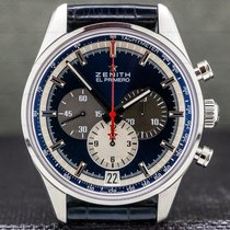 Zenith El Primero 36'000 VpH pre-owned 42mm Chronograph Date Tachymeter Crocodile skin