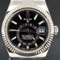Rolex Sky-Dweller Stal 42mm Czarny Bez cyfr