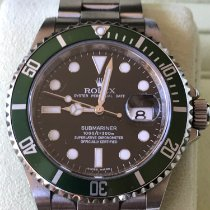 Rolex Submariner Date usados 40mm Verde Fecha Acero