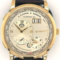 A. Lange & Söhne Yellow gold Manual winding Silver Roman numerals 42mm pre-owned Lange 1