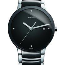 Rado Steel Quartz Black No numerals 38mm new Centrix