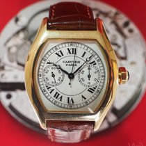 Cartier Tortue Monopoussoir Chronograph 18K Yellow Gold