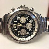Breitling Chronospace Pilotband Steel Black Arabic Dial 46 mm...