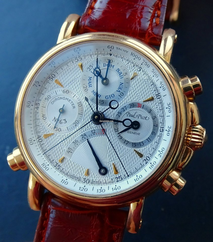 Atelier Du Bois Monaco paul picot atelier technicum rose gold 18k chronometer rattrapante
