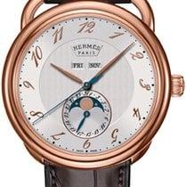 Hermès Rose gold Automatic Silver 43mm new Arceau