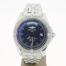 Breitling HeadWind Day&Date Blue Dial 43mm steel (B&P2...
