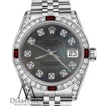 Rolex Lady-Datejust Acier 26mm Noir