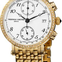Frederique Constant Classics Chronograph Goud/Staal Wit