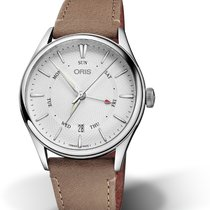 Oris Artelier Pointer Day Date Steel 36mm Silver No numerals