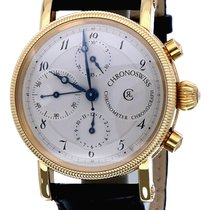 Chronoswiss Chronometer Chronograph Yellow gold 40mm Silver Arabic numerals