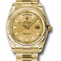 Rolex new Automatic 36mm Yellow gold Sapphire Glass