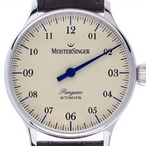 Meistersinger Pangaea Steel 40mm Mother of pearl Arabic numerals