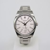 Rolex Oyster Perpetual 39 Staal 39mm Wit Geen cijfers Nederland, Franeker