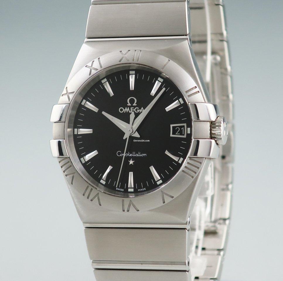 new arrival d1f39 23512 Omega オメガ OMEGA/コンステレーション 123.10.35.60.01.001 クォーツ メンズ 腕時計 ブラック 黒