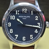Patek Philippe Steel Automatic Blue Arabic numerals 42mm pre-owned Calatrava