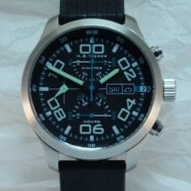 N.B. Yäeger Steel 42mm Automatic N.B.Yäeger Charlie Aviator Chronograph new