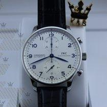 萬國 IW371446 Portugieser Chronograph White Dial