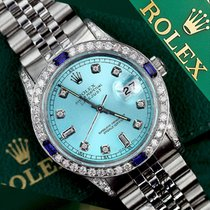 Rolex Lady-Datejust Zeljezo 26mm Plav-modar