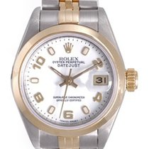 Rolex Ladies Rolex Datejust Watch with Custom Diamond Bezel 69163
