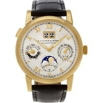 A. Lange & Söhne Langematik Perpetual Yellow gold 39mm Silver Roman numerals United States of America, Florida, Surfside