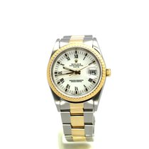 Rolex Oyster Perpetual Date pre-owned 34mm Date Gold/Steel