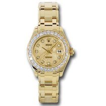 Rolex Lady-Datejust Pearlmaster Oro giallo 29mm Champagne