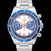 Tudor Heritage Chrono Blue 70330B new