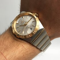 Omega Constellation Day-Date Gold/Steel 38mm Silver No numerals United States of America, New York, NYC