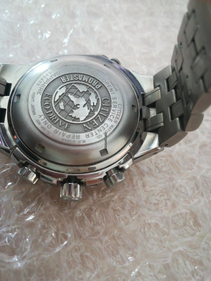 94208d032a1 Citizen Promaster Eco Drive Promaster Titanium CHRONOGRAPH E210-1006400