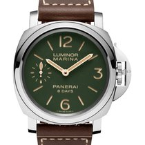 Panerai Luminor Marina 8 Days Acero 44mm Verde